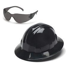 Pyramex Hard Hat Black FULL BRIM & Gray Intruder Safety Glasses, HP24111 S4120S