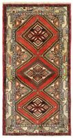 """Hand Knotted Red Ivory Tribal Wool Rudbar Nomadic Oriental Rug 2'2"""" x 4'1"""""""