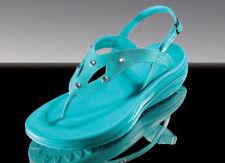 Ocean Crystal Sandalen Gr 37 Damen Zehentrenner Sandaletten türkis Strass Schuhe