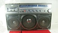 VINTAGE 80s MAGNAVOX BOOMBOX GHETTO BLASTER STEREO CASSETTE RECORDER MODEL D8443
