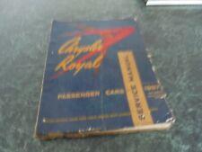 1957 CHRYSLER ROYAL 6&8CYLINDER SERVICE REPAIR MANUAL