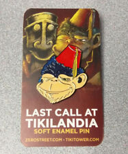 Tikilandia Drunk Ape Soft Enamel Pin Tiki Bar Flair Chimp Fez Art Monkey Badge