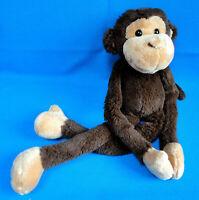 """16"""" tall MONKEY CHIMP HUGGER soft plush COMFORTER toy VELCRO HANDS & FEET * KEEL"""
