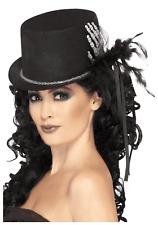 Top Hat - Skeleton Halloween Fancy Dress Hand Costume Black Accessory Ladies