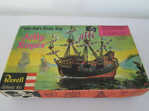 RARE VINTAGE REVELL PETER PAN'S PIRATE SHIP JOLLY ROGER H377 UNBUILT BOXED DECAL