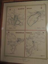 Alte Stadtplankarte von 1831 von Salisbury ,Devizes, Marlborgough und Westbury