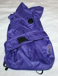 Asmpet Fleece Lined Athletic Water Resistant Dog Coat Jacket w/Leash Ring - Sm