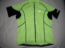 NWOT LOUIS GARNEAU Cycling Jersey,XL,Neon Green+Black,Full Zip,Hi Quality,NICE!