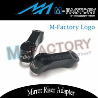 MF Billet CNC Mirror Adapter Riser Mount Fit Suzuki V-Strom 650 1000 DL