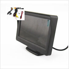 "4.3"" LCD Car Mirror Display Screen + 170 degree Autos Reverse Camera WaterProof"