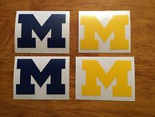 University Of Michigan Block M Decal 4 Pack*FREE SHIPPING*