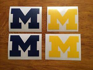 University Of Michigan Block M Decal 4 Pack*FREE SHIPPING*