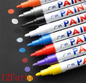 Universal 12 STÜCKE Farbe Reifenlack Marker Stifte Set Für Auto Motorrad Reifen