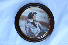 GREGORY PERILLO LIMITED EDITION COLLECTORS PLATE MINNEHAHA IN WOOD FRAME