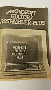 vintage Microsoft editor assemblers plus manual