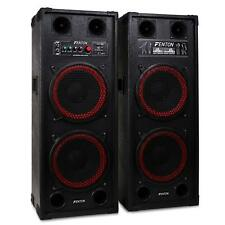 (RICONDIZIONATO) Fenton SPB-210 SET CASSE AMPLIFICATE 1200W WOOFER 25CM USB SD M