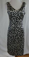 London Times Size 10 Dress Abstract Dot Print White Black New