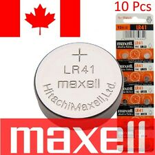 10 Pcs Maxell LR41 Batteries 192 / AG3 / V3GA 1.5v Alkaline Watch Cell Battery
