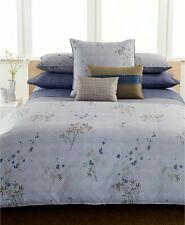 RARE Calvin Klein Bamboo Flowers HYACINTH Cotton Percale Blue Cal King Bedskirt