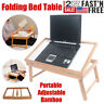 Portable Bamboo Laptop Desk Adjustable Folding Dining Table Bed Tray TV Desk USA