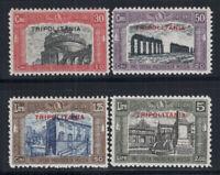 Tripolitania 1929 Sass. 50-53 Nuovo ** 100% Milizia II, 30 c, 50 c, 1.25 L, 5 L.