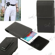 PU Leather Magnetic Flip Belt Clip Hip Pouch Case Holster For Samsung Galaxy S5