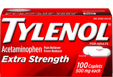 TYLENOL Extra Strength Pain Reliever Caplets  500mg 100 Caplets EXP 10/2023 & UP