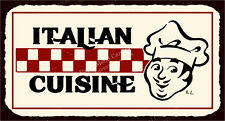 (VMA-L-6506) Italian Cuisine Vintage Metal Art Italian Pizzeria Retro Tin Sign