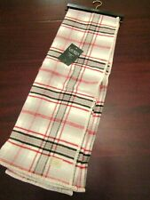 lauren cotton tartan blanket throw by ralph lauren 54x72 nwt red gray cream