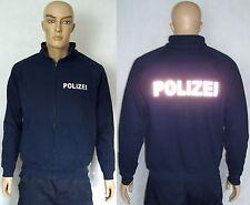 POLIZEI Sweatjacke mit Zipp, marineblau oder schwarz, 2 Text-Varianten,S bis XXL