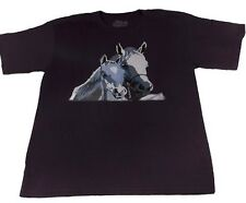 Horse T-shirt  (XL) - Made in USA - Support Wildlife Conservation, Read How