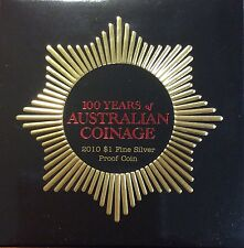 2010 RAM 100 years of Australian coinage  $1 fine silver proof.