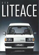 Auto Van Truck Brochure - Toyota - LiteAce - GERMAN prospekt - c1990 (T2143)