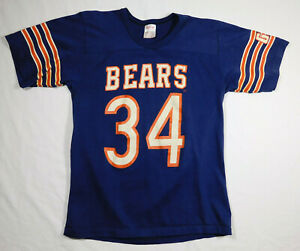 Vtg 1980s CHICAGO BEARS Walter Payton #34 NFL Rawlings GSH Jersey Shirt Adult M