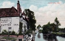 CUTTER INN BY RIVER OUSE, ELY, CAMBRIDGESHIRE : POSTCARD (1906)
