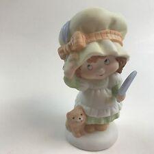 Hallmark Miss Mitzie Figurine Vintage Porcelain Girl Dog Puppy w/ Big Hat Mirror