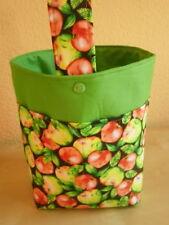 Handarbeitstasche,Wollekorb,Handarbeitskorb Strickkorb, Bobbelkorb - Äpfel
