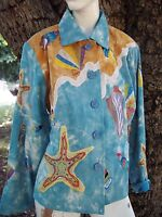 NEW with TAGS Bala Cotton Embroidered Womens Jacket Size Medium Tie Dyed NWT