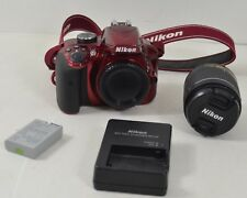 Nikon D3400 Digital DSLR Camera Red w/ DX VT AF-P 18-55mm Lens 3.5-5.6G 24.2MP