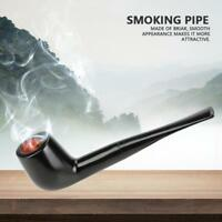 Black Colot Ebony Tobacco Filter Cigarette Smoking Wood Pipes Gift Accessories