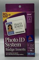 "Avery 2944/2945 REPLAC PhotoIDSystem,BadgeInserts,3""x4"",White,CleanEdge,Qty. 100"