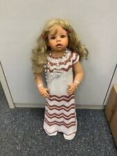 Monika Levenig Vinyl Puppe 80 cm. Top Zustand
