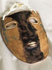Hand-painted ceramic decorative theatre mask (unsigned)