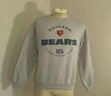 Vtg 90's NFL CHICAGO BEARS Gray Crew Neck Fleece Sweatshirt Large