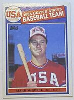 Mark McGwire 1985 Team USA Topps Baseball Rookie RC Card NM