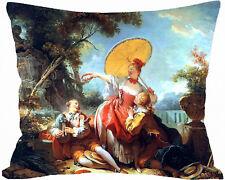 housse de coussin 50  x 40 cm peinture fragonard personnalise prenom réf 536