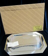 Inoxbeck 18/10 Stainless Steel Tray w/ Gold Plated Handles- 14 in. - Italy - NIB