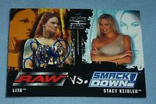 Lita Signed 2002 Fleer Raw vs SmackDown WWE Card 83 Autograph Diva Stacy Keibler