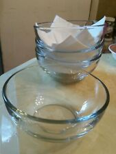 Clear Glass Soup And Salad Bowls Set Of Four