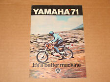 1971 Yamaha XS1 R5 DT1 RT1 CT1 AT1 AT1MX DT1MX RT1MX Sales Brochure Vintage NOS